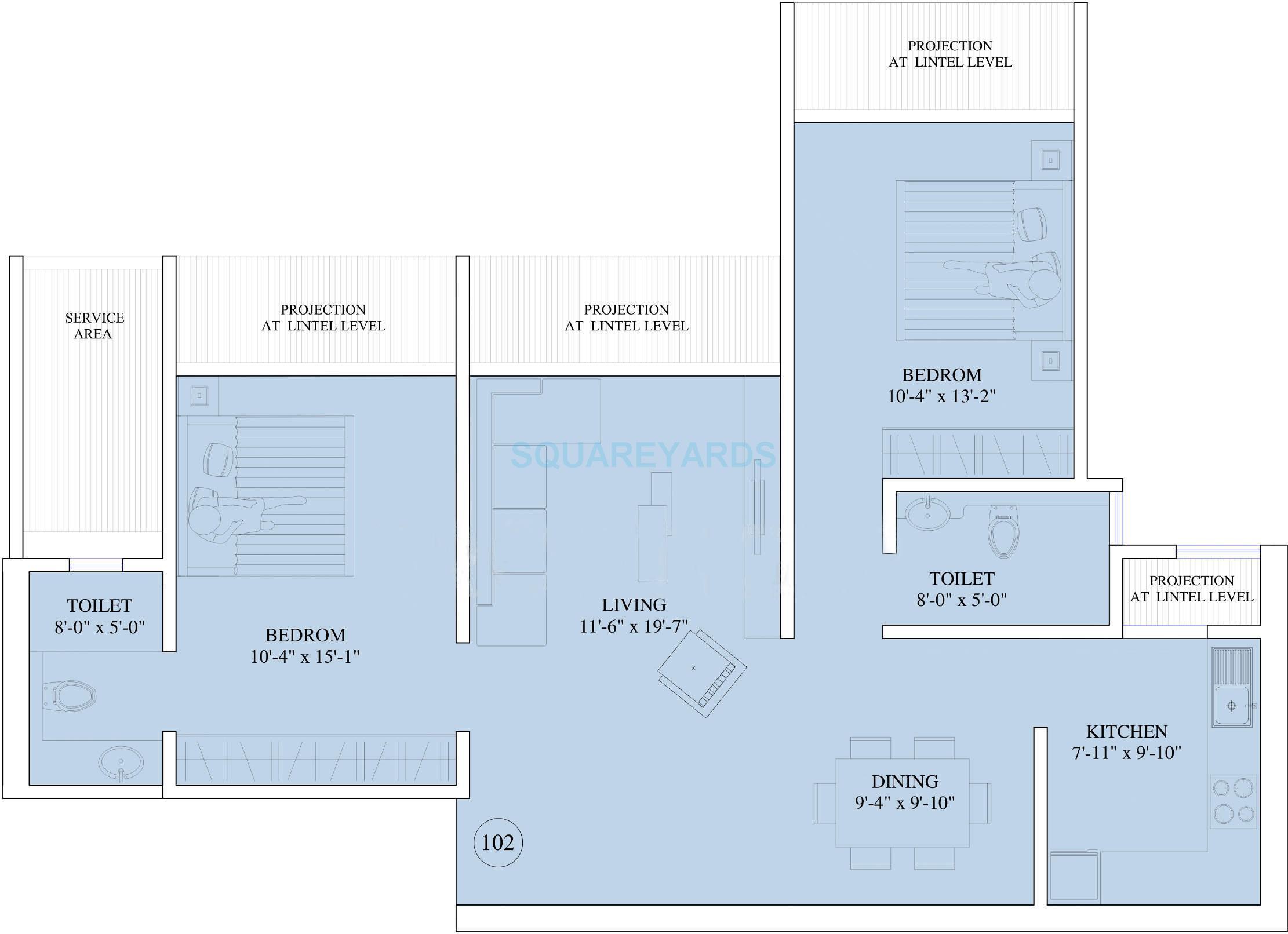 ruparel the orion apartment 2bhk 1350sqft1