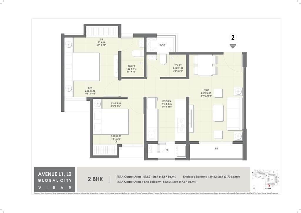 rustomjee avenue d1 apartment 2 bhk 512sqft 20203511143559