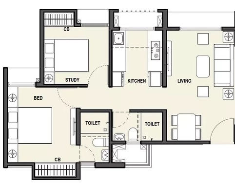 rustomjee avenue d1 wing a and wing b apartment 2bhk 472sqft11
