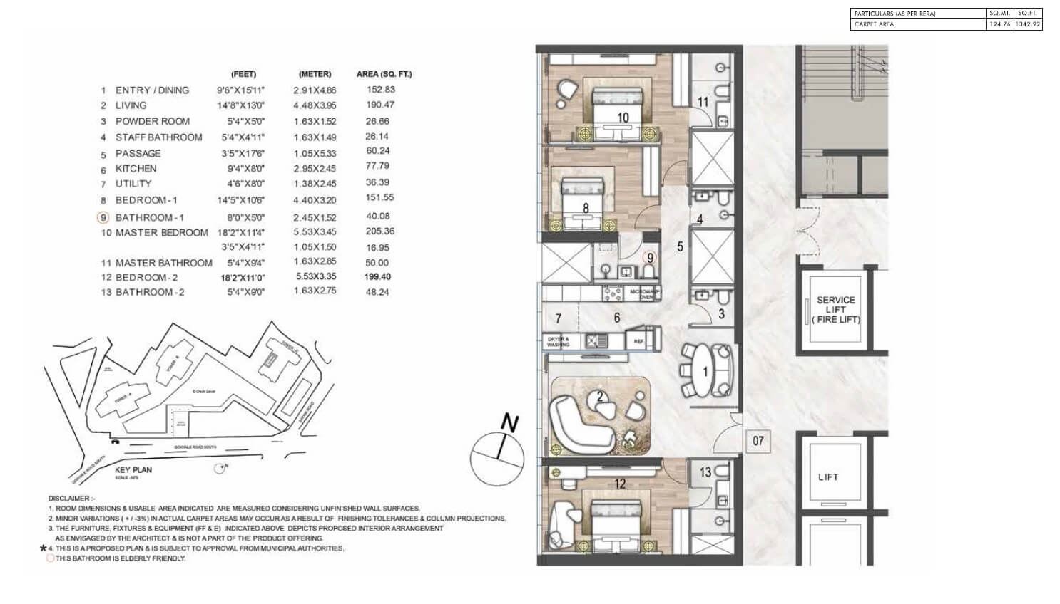 rustomjee crown apartment 3bhk 1342sqft 1