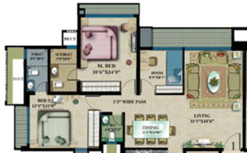 rustomjee elanza apartment 2 bhk 1305sqft 20213305103328