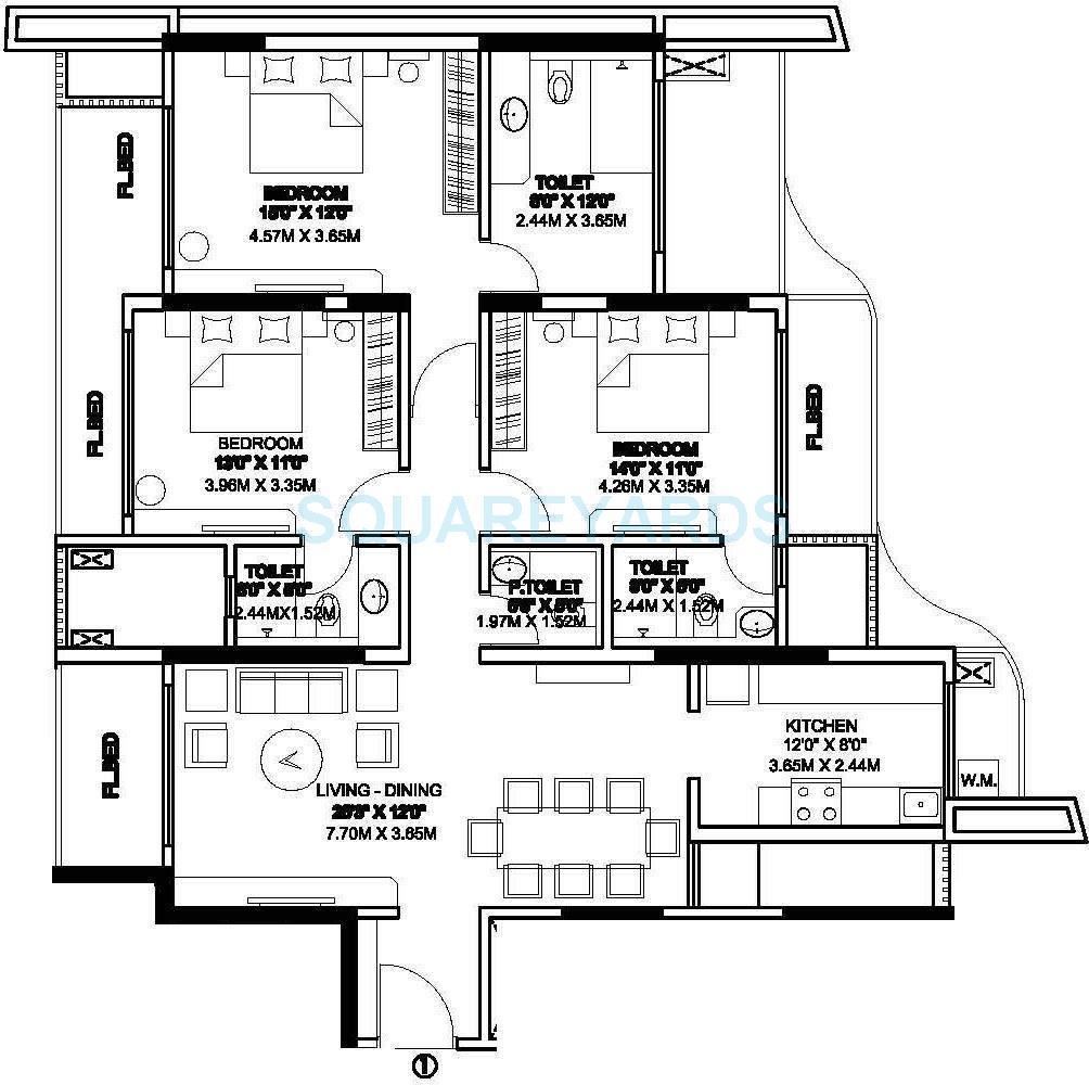 rustomjee elita apartment 3bhk 2000sqft1