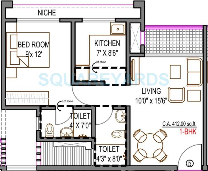 rustomjee global city apartment 1bhk 412sqft1