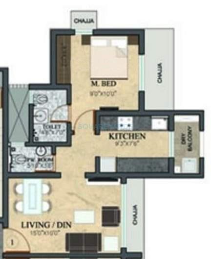 rustomjee meridian apartment 1bhk 668sqft1
