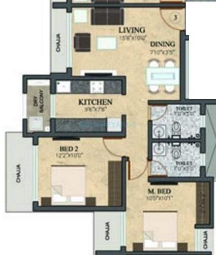 rustomjee meridian apartment 2bhk 1006sqft1