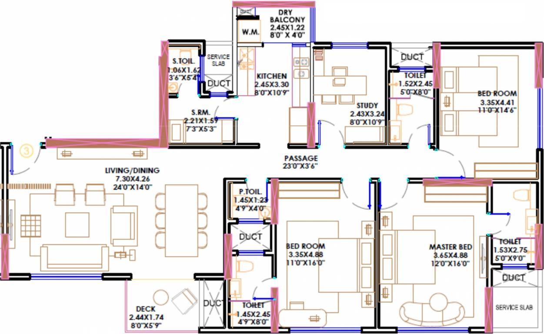rustomjee seasons apartment 3 bhk 1064sqft 20211207141239