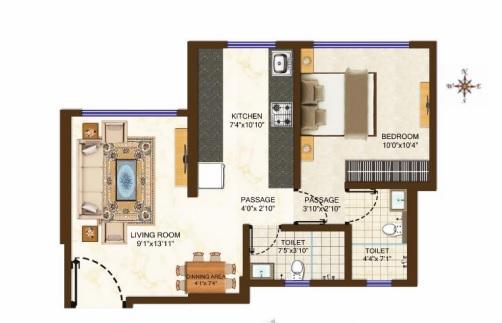 samarth tanish apartment 1 bhk 273sqft 20210620140637