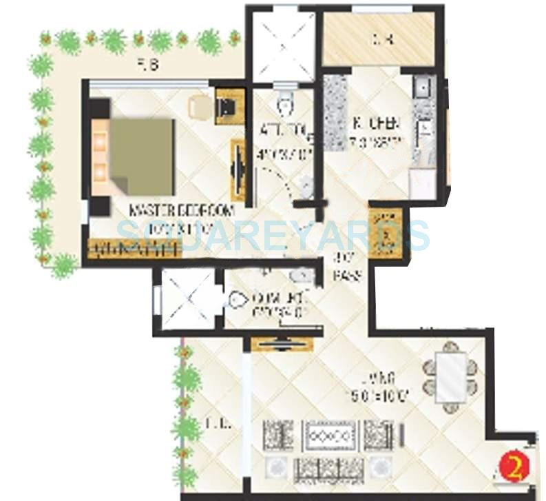 sanghvi exotica apartment 1bhk 685sqft1