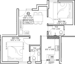 sara kshipra apartment 2bhk 710sqft 1