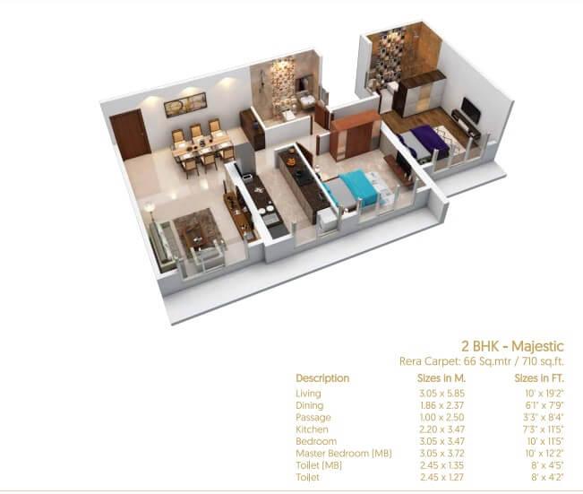 satellite codename legacy apartment 2bhk 710sqft 1