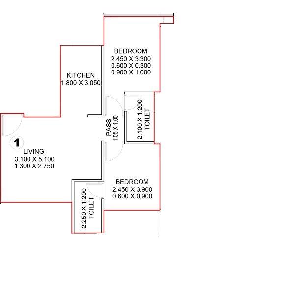 satyam 17 west apartment 2bhk 495sqft01