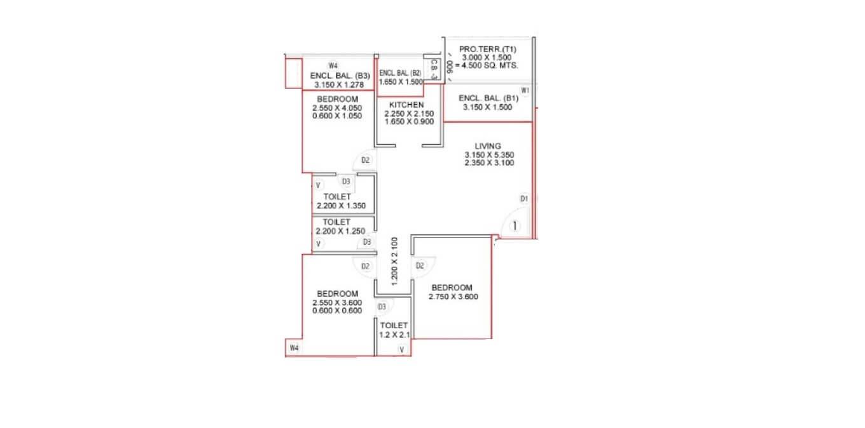 satyam bellagio apartment 3bhk 678sqft31
