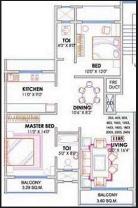 seth sea jewel apartment 2bhk 1185sqft1
