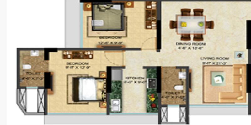 sethia grandeur apartment 2bhk 1225sqft 51