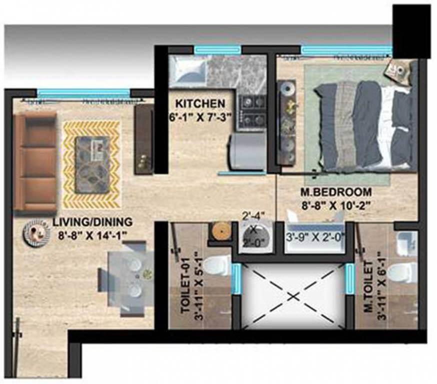 sethia imperial avenue apartment 1 bhk 365sqft 20211222171215