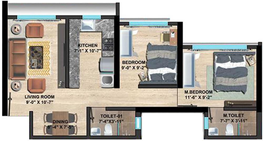 sethia imperial avenue apartment 2 bhk 568sqft 20211222171227