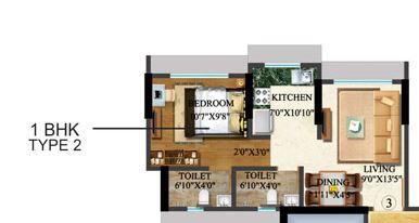 sethia kalpavruksh heights apartment 1bhk 615sqft 1