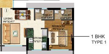 sethia kalpavruksh heights apartment 1bhk 666sqft 1
