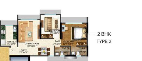 sethia kalpavruksh heights apartment 2bhk 963sqft 1