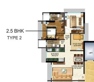 sethia kalpavruksh heights apartment 2bhk st 1175sqft 1