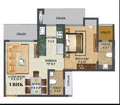 sethia sea view apartment 1bhk 650sqft 1
