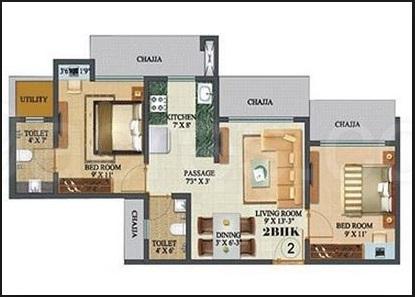 sethia sea view apartment 2bhk 850sqft1