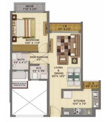 shapoorji pallonji joyville apartment 1bhk 497sqft 1