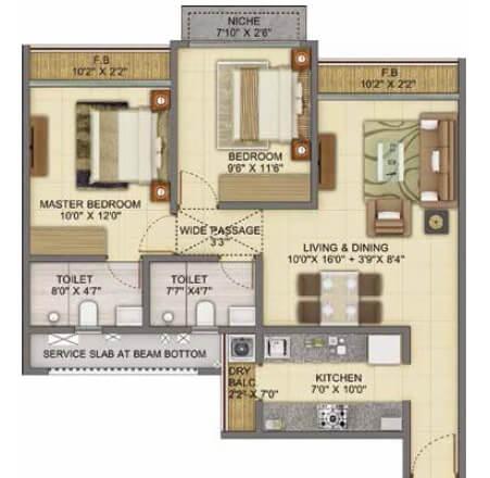 shapoorji pallonji joyville apartment 2bhk 760sqft 1