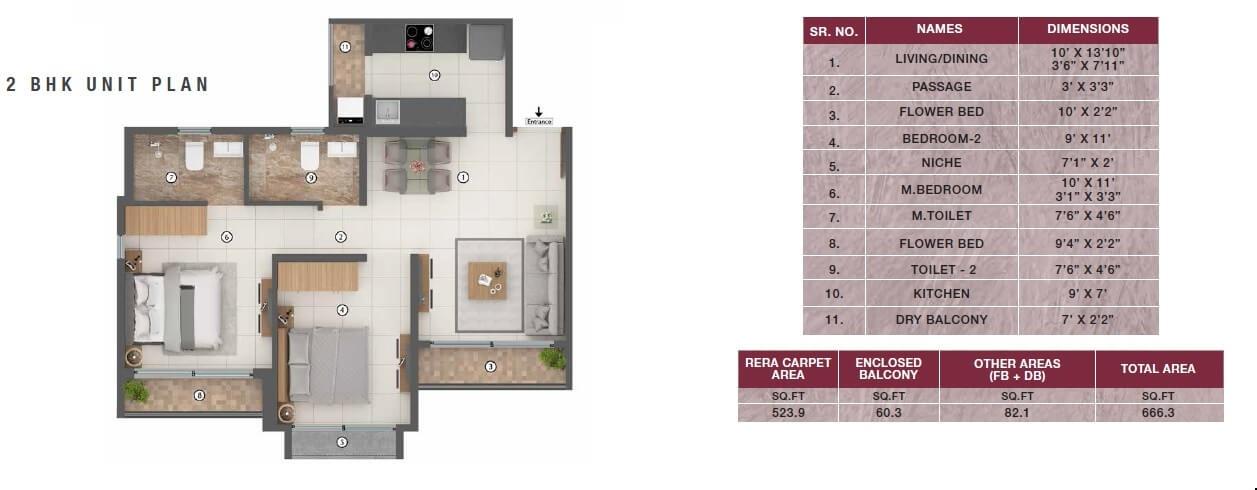 shapoorji pallonji joyville palm meadows apartment 2 bhk 666sqft 20204030174008