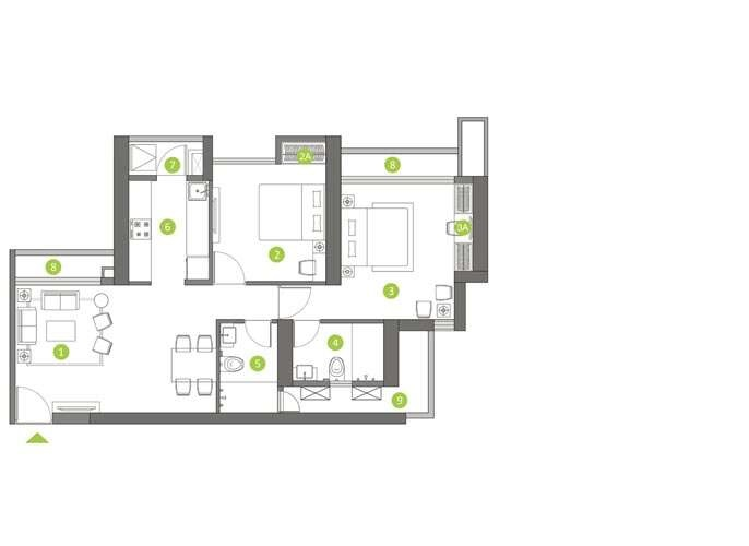 shapoorji pallonji northern lights apartment 2bhk 778sqft61