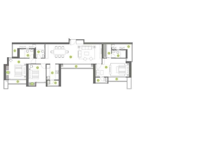 shapoorji pallonji northern lights apartment 3bhk 1150sqft61