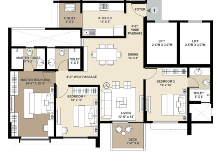 shapoorji pallonji vicinia apartment 3bhk 1067sqft 1