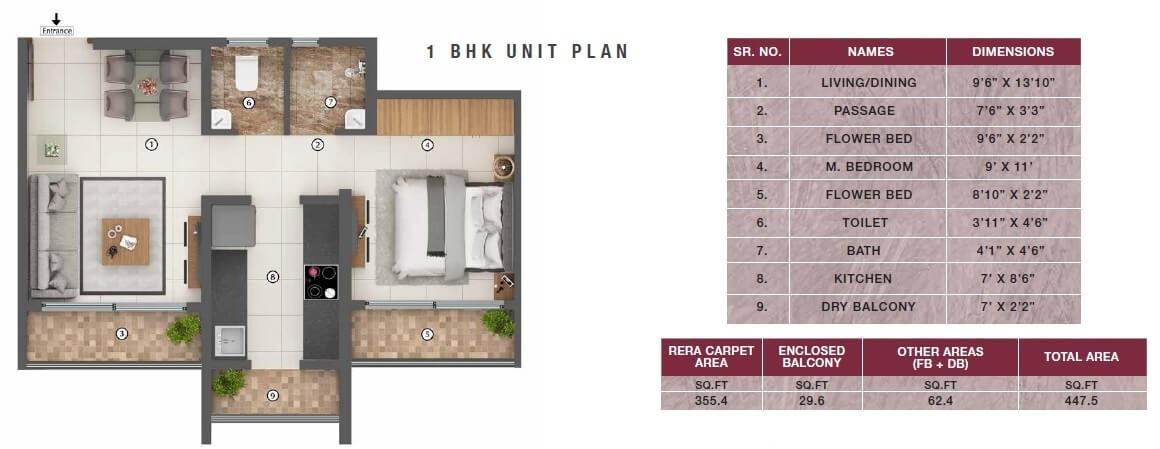 shaporji pailonji joyville new tower apartment 1 bhk 447sqft 20213122173133