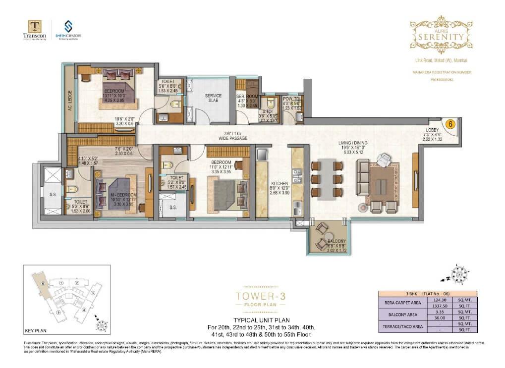 sheth auris serenity apartment 3bhk 1373sqft81