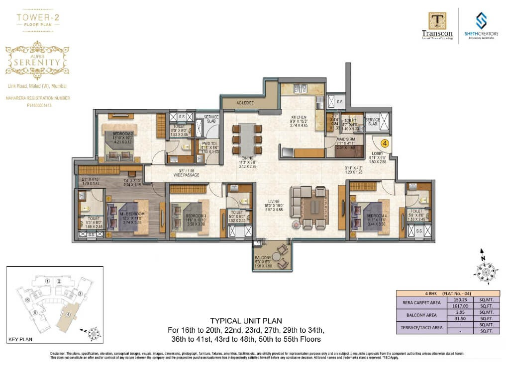 sheth auris serenity apartment 4bhk 1648sqft81