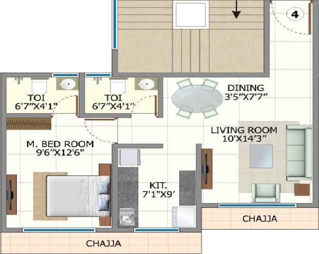 shree riddhi siddhi sumukh hills apartment 1bhk 475sqft 1