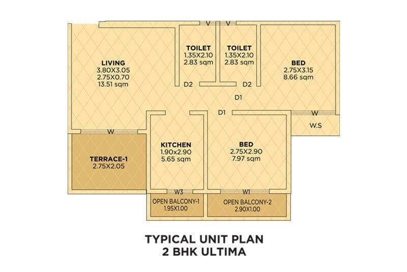 siddhivinayak riddhima apartment 2bhk 598sqft 1