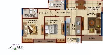 sigma emerald apartment 2bhk 733sqft01