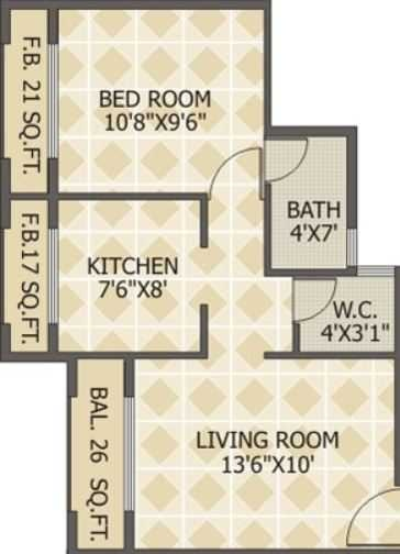 squarefeet green acers apartment 1bhk 635sqft51