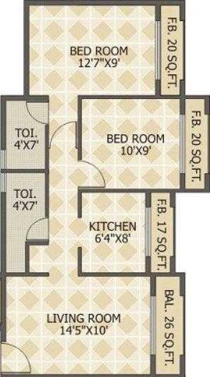 squarefeet green acers apartment 2bhk 900sqft51