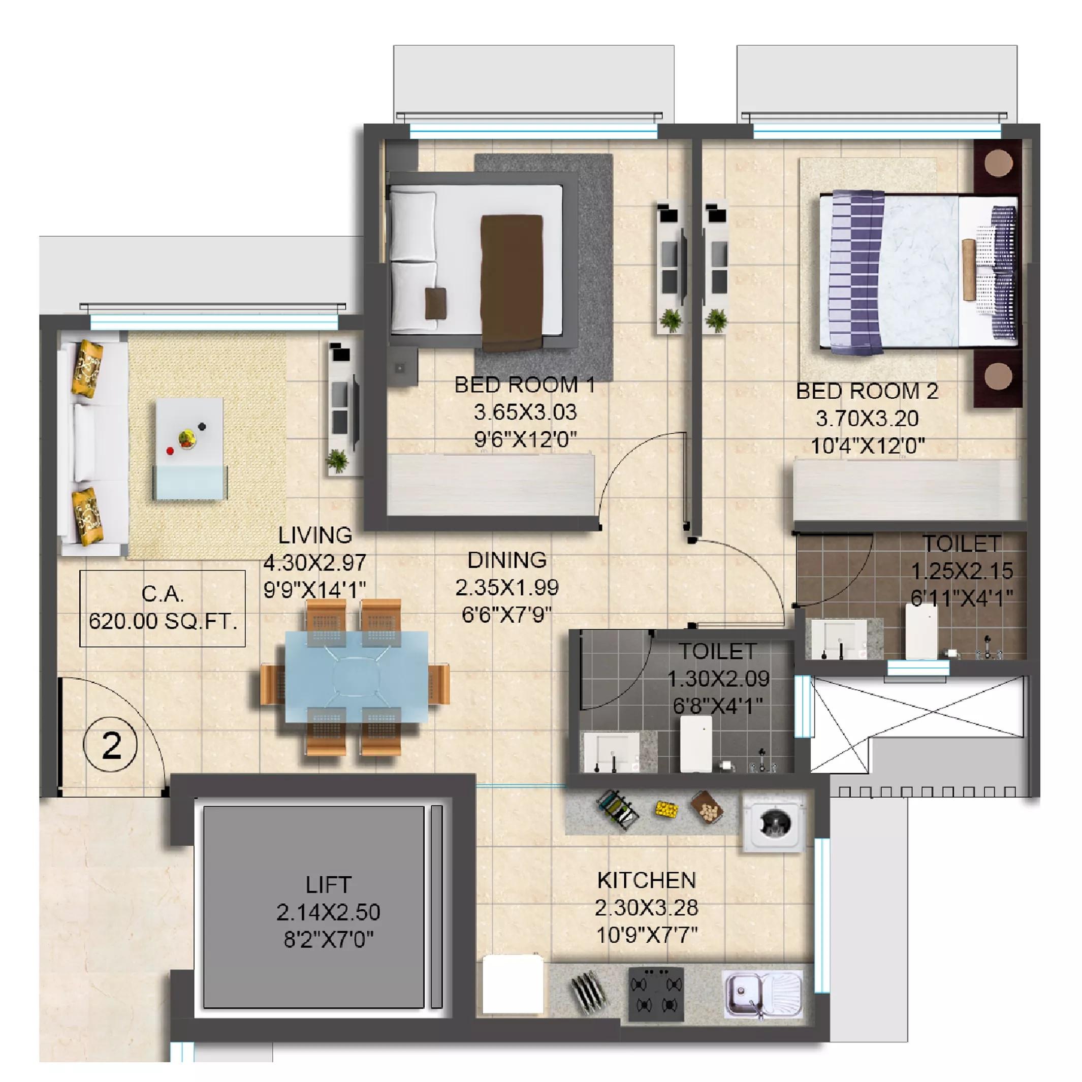 srishti samarth apartment 1 bhk 450sqft 20215709125720