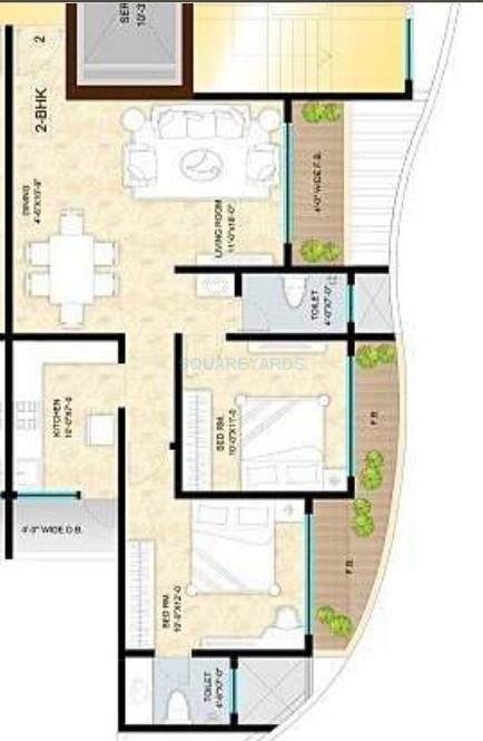 sunteck avenue 1 apartment 2bhk 1250sqft1