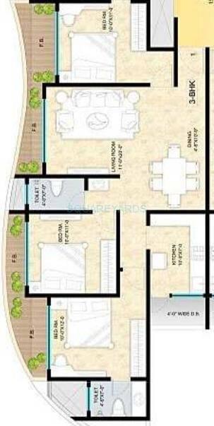 sunteck avenue 1 apartment 3bhk 1550sqft1