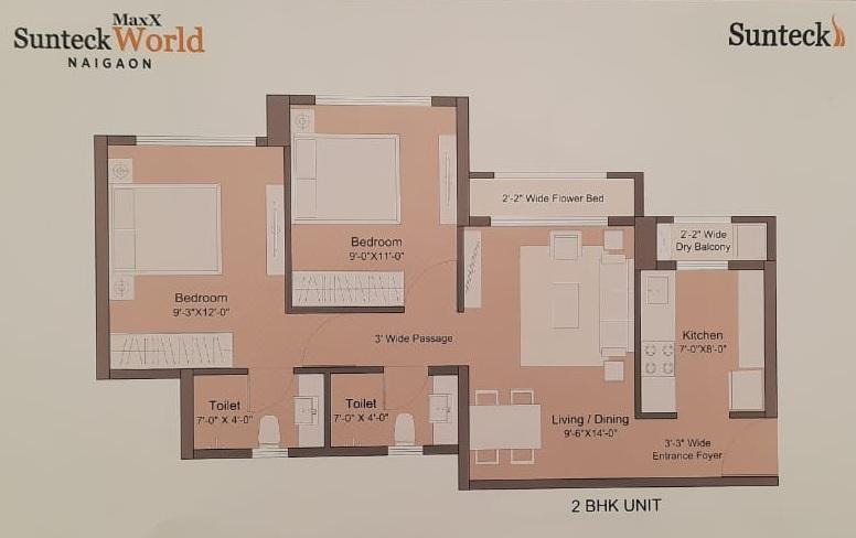 sunteck maxworld apartment 2bhk 570sqft11