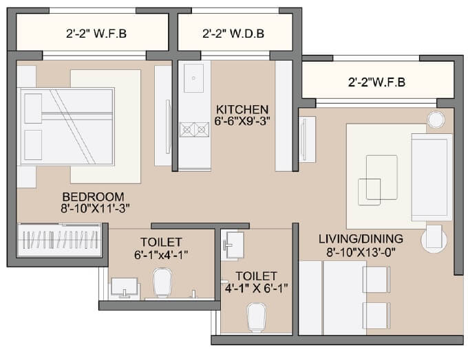 sunteck west world apartment 1bhk 285sqft 1