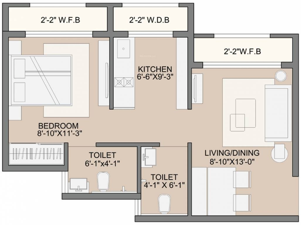 sunteck west world phase 2 tivri apartment 1bhk 285sqft01