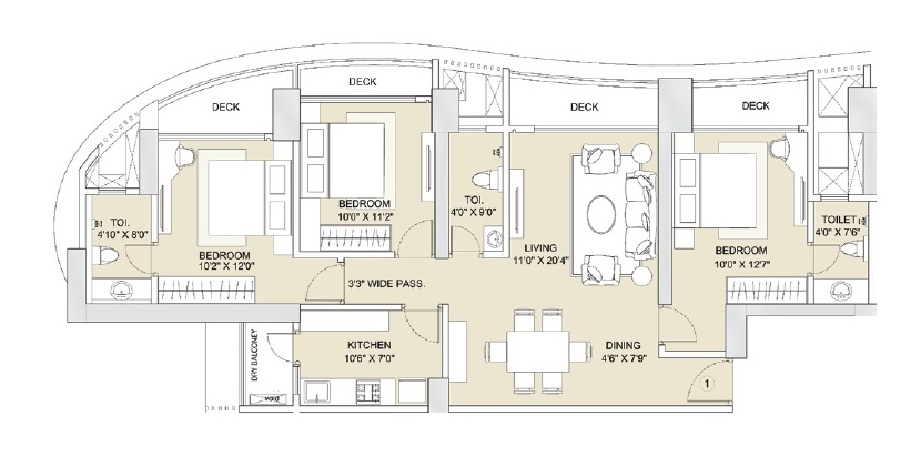 sunteck whatacity apartment 3bhk 1670sqft 1