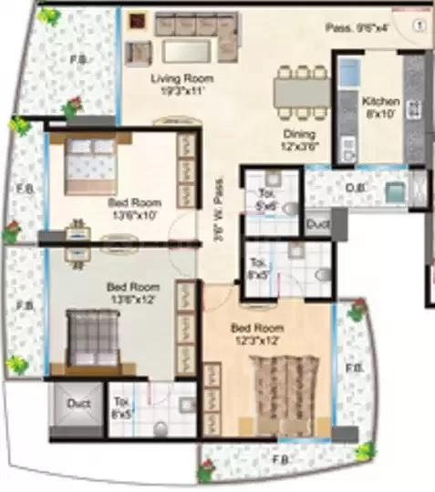 supreme royal accord apartment 3 bhk 1600sqft 20212520112553