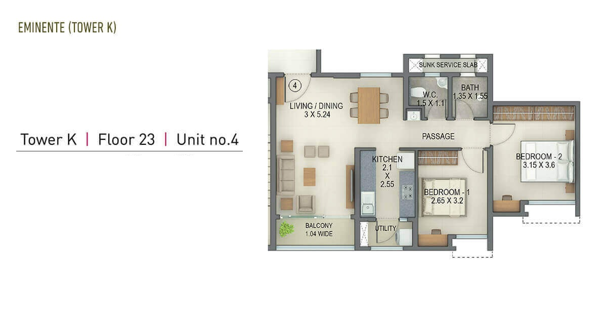 tata amantra apartment 2 bhk 695sqft 20204703104714