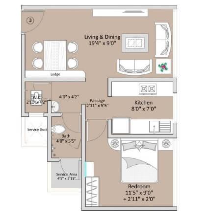 the baya goldspot apartment 1bhk 668sqft 1